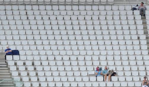 sparse crowd