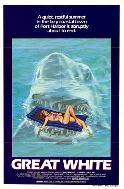 Even the poster is a Jaws rip-off.