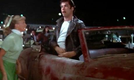 Grease Danny car door