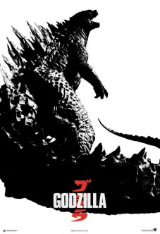 Godzilla black and white poster