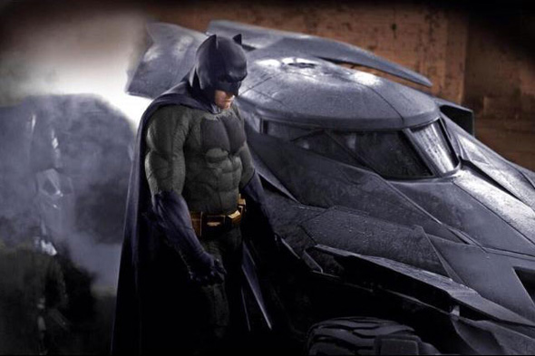 Affleck Batman costume gray and blue