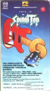 Spinal Tap VHS