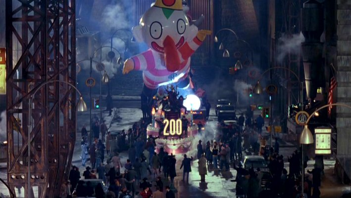 That clown balloon was a better villain than Bane.