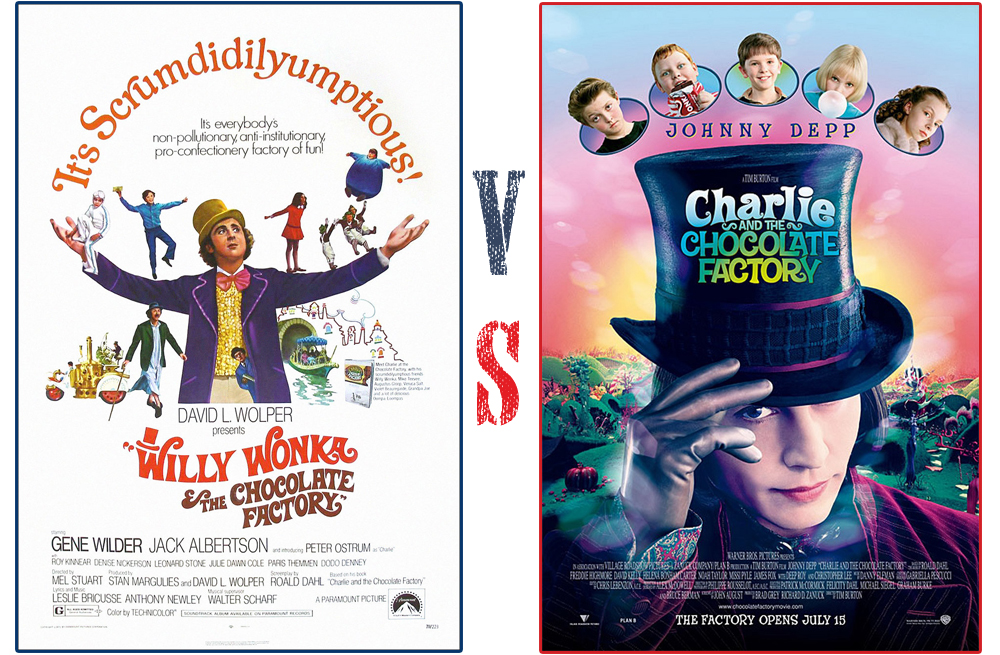 old vs new willy wonka the chocolate factory vs charlie the new willy wonka the chocolate factory vs charlie the chocolate factory