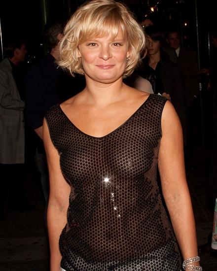 Martha Plimpton now wearing a shiny see-through top