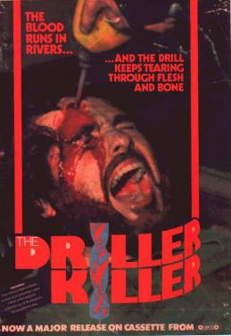 Driller Killer banned VHS cover