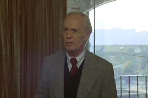 Richard Widmark. Because Peter Cushing was too busy.